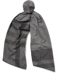 Engineered Garments - Checked Cotton-twill Scarf - Lyst