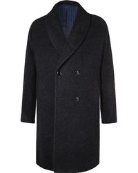 Mp Massimo Piombo - Double-breasted Alpaca-blend Coat - Lyst