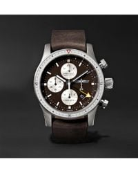 Bremont | - Boeing 100 Automatic Chronometer 43mm Titanium And Leather Watch - Brown | Lyst