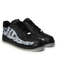 Nike Air Force 1 '07 Skeleton Leather Trainers - Black