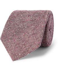James Purdey & Sons Silk-jacquard Tweed Tie - Pink