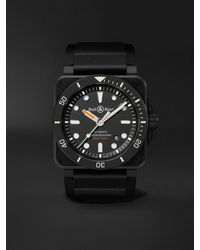 Bell & Ross Br 03-92 Diver Black Matte Automatic 42mm Ceramic And Rubber Watch