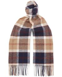 Norse Projects - + Johnstons Of Elgin Fringed Checked Wool Scarf - Lyst