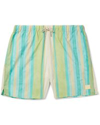 Acne Studios Perry Mid-length Striped Swim Shorts - Green