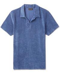 Ermenegildo Zegna - Cotton-blend Terry Polo Shirt - Lyst