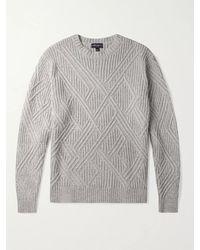 Peter Millar Chalet Textured Wool-blend Jumper - Grey