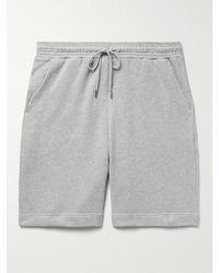 NINETY PERCENT Wide-leg Organic Cotton-jersey Drawstring Shorts - Grey