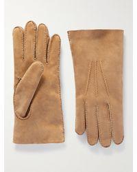 Umit Benan B+ Umit Benan B - Shearling Gloves - Brown