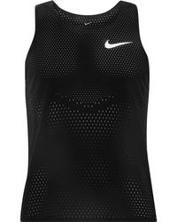 9845dbb14f44c4 Lyst - Nike Aeroswift Running Tank Top in Red for Men