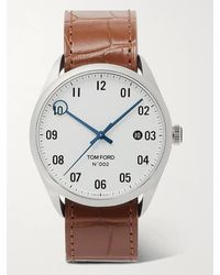 Tom Ford 002 Automatic 40mm Stainless Steel And Alligator Watch - White