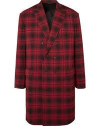 Balenciaga - Oversized Double-breasted Checked Woven Coat - Lyst