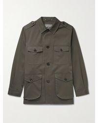 Private White V.c. The Safari Brushed Cotton-twill Jacket - Green