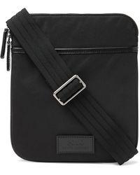 Polo Ralph Lauren Leather-trimmed Nylon Messenger Bag - Black