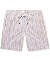 Onia Charles Long-length Striped Seersucker Swim Shorts - Multicolour