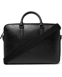 Ermenegildo Zegna Textured-leather Briefcase - Black