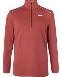 Nike 3.0 Element Dri-fit Half-zip Running Top - Orange