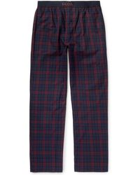 BOSS - Slim-fit Checked Cotton Pyjama Trousers - Lyst