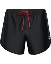 District Vision Spino Slim-fit Stretch-shell Shorts - Black
