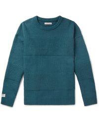 Flagstuff Panelled Wool-blend Jumper - Multicolour