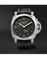 Officine Panerai - Luminor 1950 3 Days Acciaio 44mm Stainless Steel And Alligator Watch - Lyst
