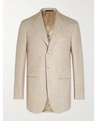 Saman Amel Linen And Wool-blend Blazer - Natural