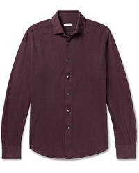 Incotex - Cotton-piqué Shirt - Lyst