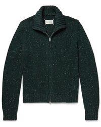 Maison Margiela Donegal Wool-blend Zip-up Cardigan - Green