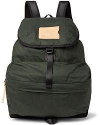 Bleu De Chauffe - Bayou Canvas-trimmed Cotton-ripstop Backpack - Lyst