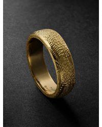 Elhanati Mezuzah Gold Ring - Metallic