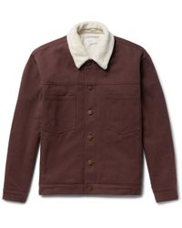 Fanmail - Sherpa-trimmed Organic Cotton-twill Jacket - Lyst