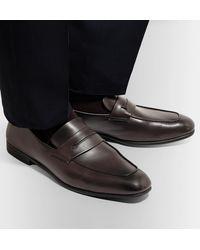 Ermenegildo Zegna L'asola Leather Penny Loafers - Brown