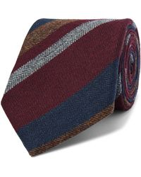 Bigi 9cm Striped Cashmere Tie - Multicolor