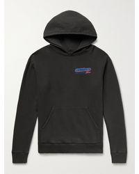 Pasadena Leisure Club Offshore Printed Fleece-back Cotton-jersey Hoodie - Black