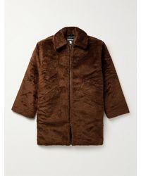 Monitaly Faux Fur Coat - Brown