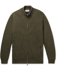 James Purdey & Sons Orkney Ribbed Wool Zip-up Cardigan - Green