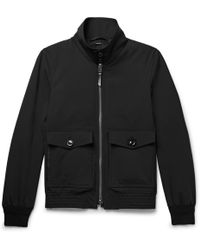 Tom Ford - Leather-trimmed Stretch-wool Blouson Jacket - Lyst