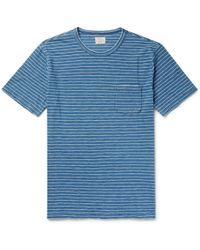 Faherty Brand - Striped Cotton-jersey T-shirt - Lyst