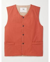 The Workers Club Mackintosh Slim-fit Tech-cotton Gilet - Orange