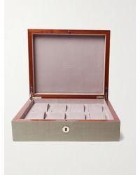 Rapport London Heritage Walnut Wood Watch Case - Grey