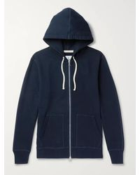 Reigning Champ Loopback Cotton-jersey Zip-up Hoodie - Blue