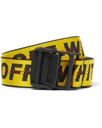 Off-White c/o Virgil Abloh - 3.5cm Yellow Industrial Logo-jacquard Webbing Belt - Lyst