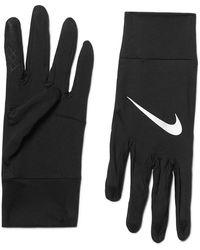 Nike Element Dri-fit Stretch-jersey Gloves - Black