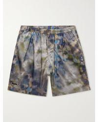 True Tribe Neat Steve Mid-length Iridescent Econyl Swim Shorts - Blue