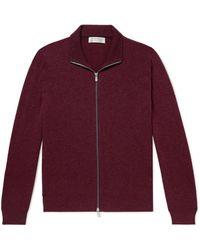 Brunello Cucinelli Cashmere Zip-up Sweater - Purple