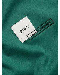 WTAPS Home Base Logo-appliquéd Cotton-blend Jersey T-shirt - Green