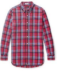 Engineered Garments - 19th Century Button-down Collar Checked Cotton-flannel Shirt - Lyst