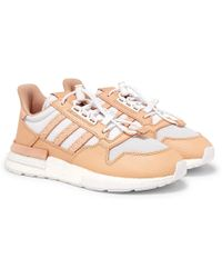 adidas Originals - + Hender Scheme Zx 500 Rm Mt Leather And Mesh Sneakers - Lyst