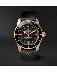 Breitling Superocean Héritage Ii B20 Automatic 42mm Stainless Steel, Red Gold And Rubber Watch, Ref. No. Ub2010121b1s1 - Black