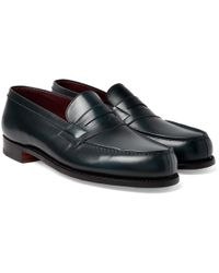 J.M. Weston - Leather Penny Loafers - Lyst