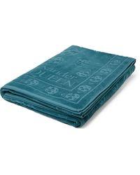 Alexander McQueen Logo-jacquard Cotton-terry Beach Towel - Blue